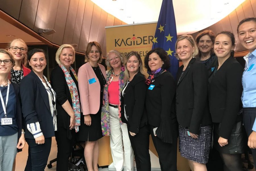 Auf Einladung des Verbands der türkischen Unternehmerinnen Kagider und ALDE im Europa Parlament (Brüssel)